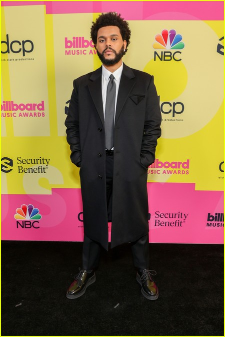 The Weeknd on the Billboard Music Awards 2021 red carpet