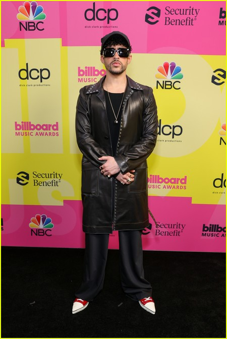 Bad Bunny on the Billboard Music Awards 2021 red carpet