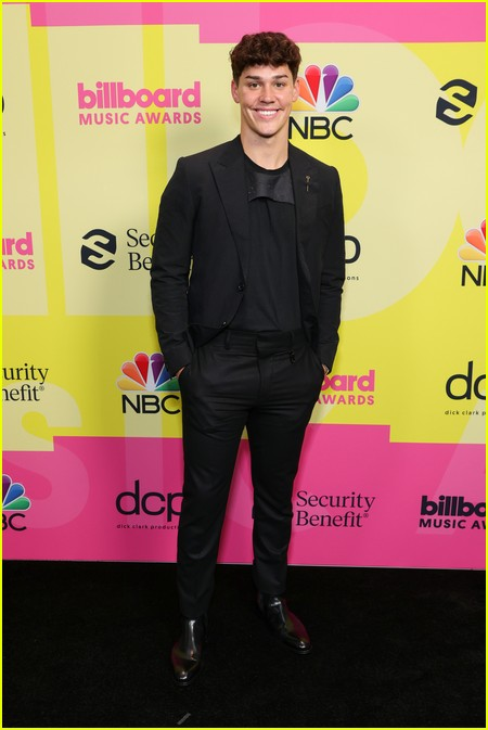 Noah Beck on the Billboard Music Awards 2021 red carpet