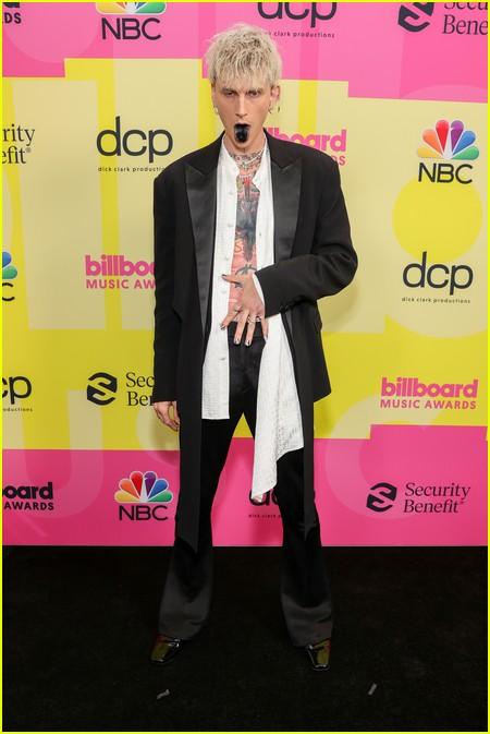 Machine Gun Kelly on the Billboard Music Awards 2021 red carpet