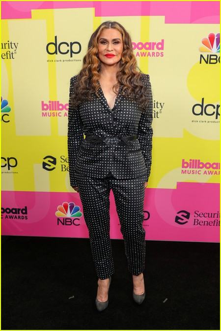 Tina Knowles-Lawson on the Billboard Music Awards 2021 red carpet