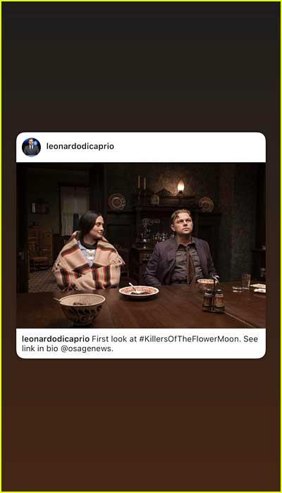 Camila Morrone posts photo from Leonardo DiCaprio movie
