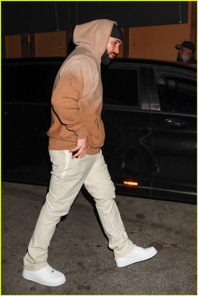 Candid photo of Drake out and about