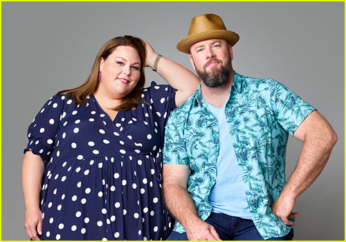 Chrissy Metz and Chris O'Sullivan as Kate and Toby on This Is Us
