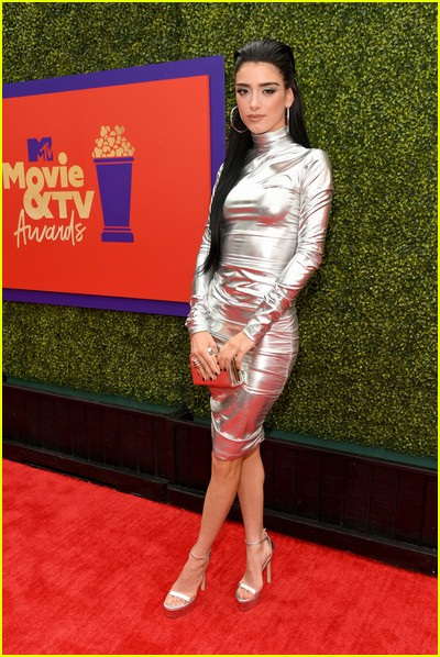 Dixie D'Amelio on red carpet at the MTV Movie and TV Awards Unscripted