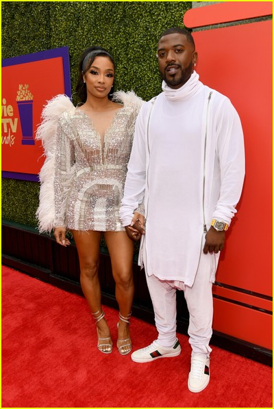 Princess Love and Ray J on red carpet at the MTV Movie and TV Awards Unscripted