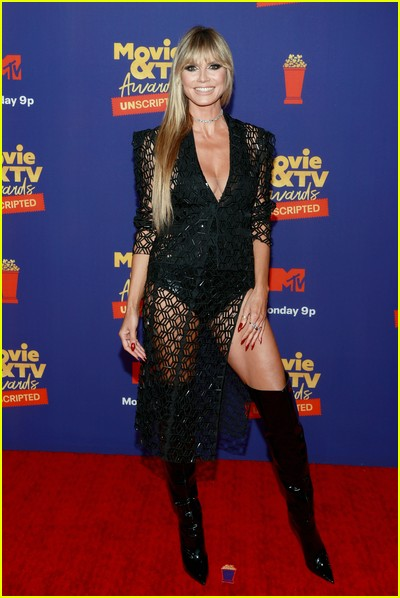 Heidi Klum on red carpet at the MTV Movie and TV Awards Unscripted