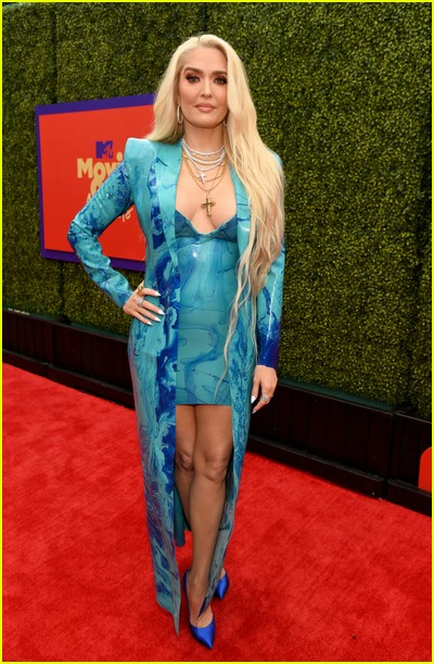 Erika Jayne on red carpet at the MTV Movie and TV Awards Unscripted