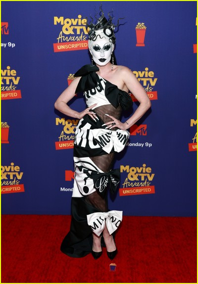 Gottmik on red carpet at the MTV Movie and TV Awards Unscripted