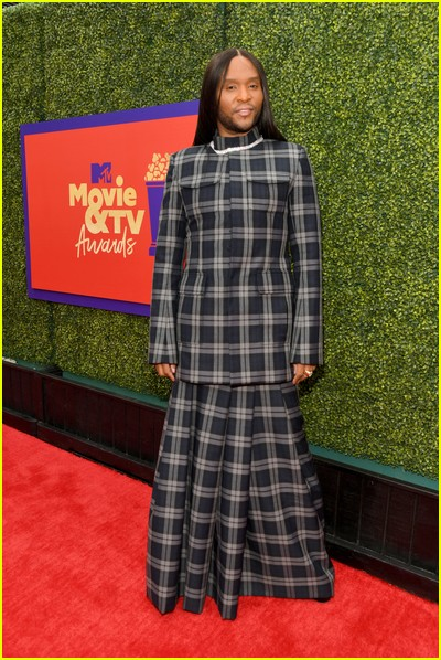 Law Roach on red carpet at the MTV Movie and TV Awards Unscripted