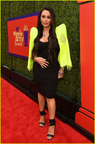 JWoww on red carpet at the MTV Movie and TV Awards Unscripted