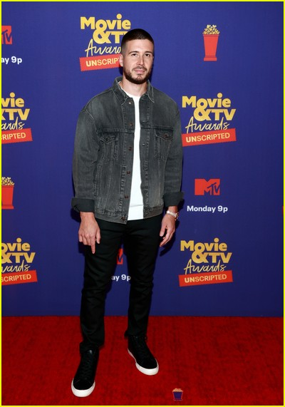 Vinny Guadagnino on red carpet at the MTV Movie and TV Awards Unscripted