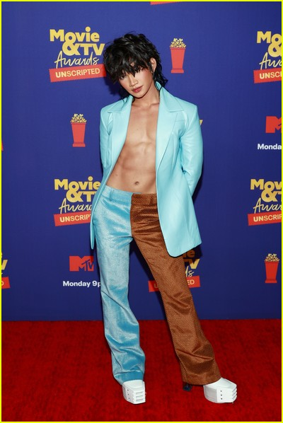 Bretman Rock on red carpet at the MTV Movie and TV Awards Unscripted
