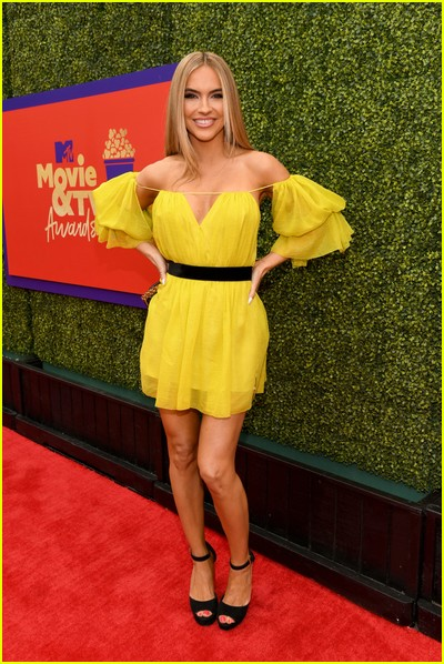 Chrishell Stause on red carpet at the MTV Movie and TV Awards Unscripted