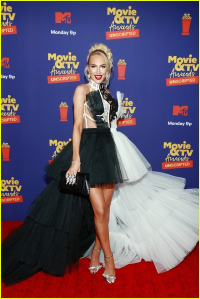 Christine Quinn on red carpet at the MTV Movie and TV Awards Unscripted