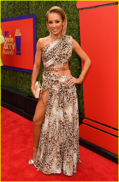 Mary Fitzgerald on red carpet at the MTV Movie and TV Awards Unscripted