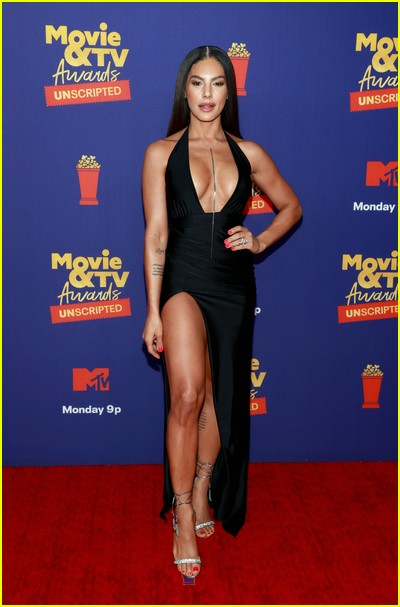 Amanza Smith Brown on red carpet at the MTV Movie and TV Awards Unscripted