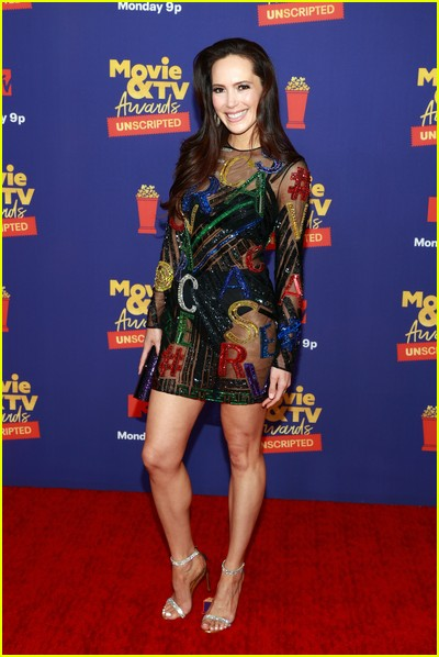 Davina Potratz on red carpet at the MTV Movie and TV Awards Unscripted