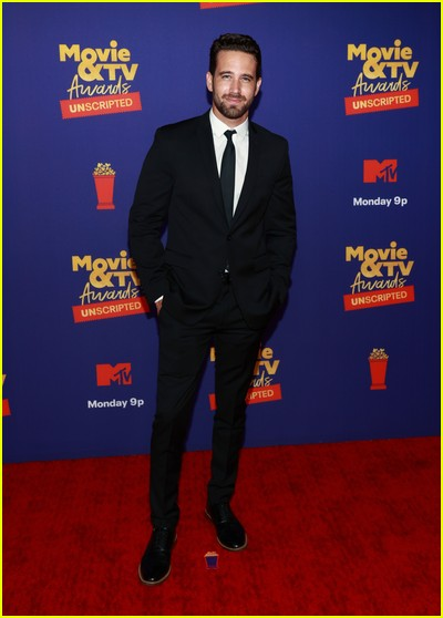 Trevor Holmes on red carpet at the MTV Movie and TV Awards Unscripted