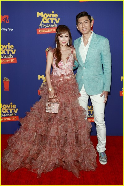 Cherie Chan and Jessey Lee on red carpet at the MTV Movie and TV Awards Unscripted