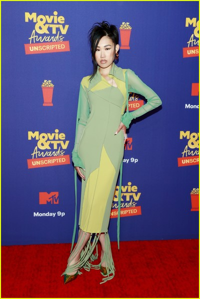Jaime Xie  on red carpet at the MTV Movie and TV Awards Unscripted