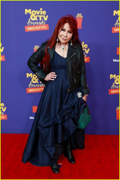 Anna Shay on red carpet at the MTV Movie and TV Awards Unscripted