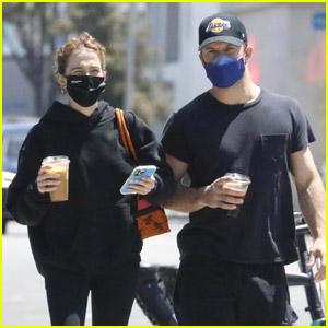 Zoey Deutch Grabs Coffee with Boyfriend Jimmy Tatro in West Hollywood