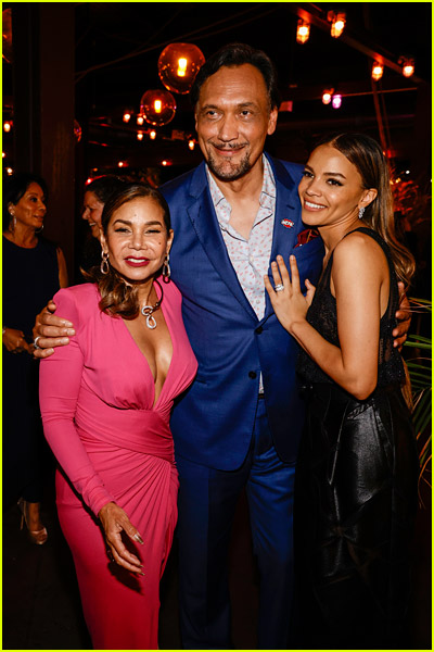 Leslie Grace and Daphne Rubin-Vega with Jimmy Smits at the