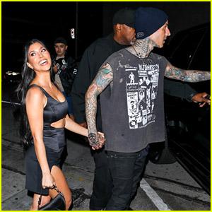 Kourtney Kardashian Looks So Hot During Thursday Night Date with Travis Barker!