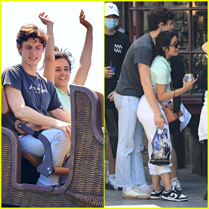 Shawn Mendes & Camila Cabello Couple Up For A Fun Day At Universal Studios